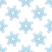 Stock Illustration of seamless background with blue snowflakes