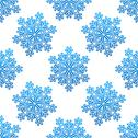 Stock Illustration of decorative blue snowflakes seamless pattern