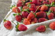 Stock Photo of ripe red strawberries