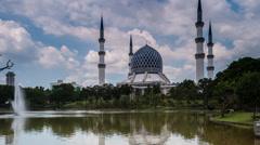 Sultan Salahuddin Abdul Aziz Shah Mosque, Malaysia Hyper Lapse Stock Footage
