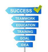 Concept indicator success road Stock Illustration