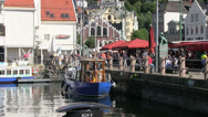 Stock Video Footage of Port of Norway - Bryggen