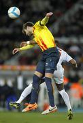 Catalan player Gerard Pique of FC Barcelona - stock photo