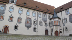 The High Palace in Fuessen, Germany Stock Footage
