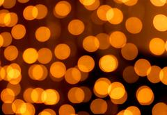 Golden christmas lights abstract homogeneous background Stock Photos