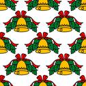 Stock Illustration of christmas bell seamless pattern