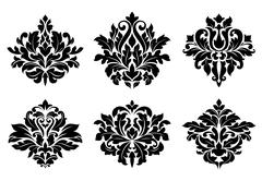 Stock Illustration of decorative floral elements and embellishments