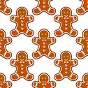 Stock Illustration of ginger cookies seamless pattern background