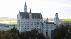 Beautiful autumn view of the Neuschwanstein castle (Bavaria, Germany) Stock Footage