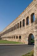 St. lazaro  aqueduct of merida - emerita augusta Stock Photos