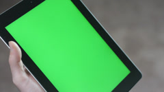 Green Screen Tablet Being Used Stock Footage