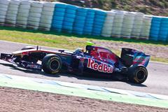Team toro rosso f1, jaime.alguersuari, 2011 Stock Photos