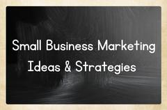 Stock Illustration of small business marketing ideas & strategies