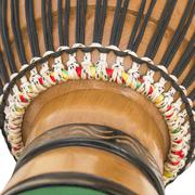 Detail of an African Djembe Stock Photos