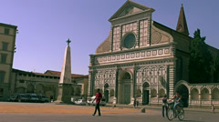 Church of Santa Maria Novella in Florence, Italy. Stock Footage