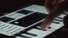 Music Piano App ipad Touchscreen Tablet Stock Footage