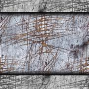 background old wood board cracked and scratched lines of horrors - stock photo