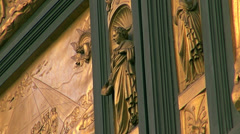 East doors, or Gates of Paradise, by Lorenzo Ghiberti Stock Footage