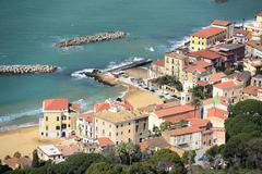 Stock Photo of santa maria view from castellabate