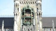 Stock Video Footage of Glockenspiel on the Munich city hall