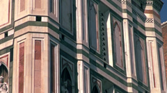 Il Duomo di Firenze with polychrome marble panels details Stock Footage