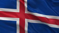 Flag of Iceland - seamless loop Stock Footage