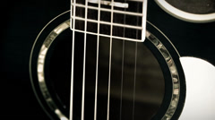 guitar close up - stock footage