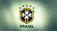 Brazil CBF World Cup 2014 Flag Logo Stock Footage