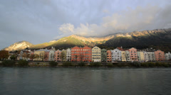 Innsbruck Austria - architecture and nature background Stock Footage