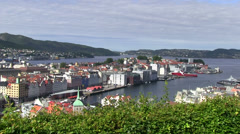 Port of  Bryggen Stock Footage