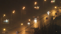 Kyiv's  cars traffic at night, Real time Stock Footage