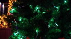 Christmas tree light 7 - stock footage