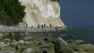 Stock Video Footage of White Chalk Cliffs on Rügen Island - Baltic Sea, Northern Germany