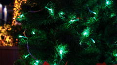 Christmas tree light 8 Stock Footage