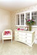girly room corner - stock photo