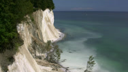 Stock Video Footage of Chalk Cliffs on Rügen Island - Baltic Sea, Northern Germany