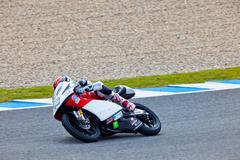 Stock Photo of louis rossi pilot of 125cc in the motogp