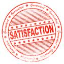 Stock Illustration of grunge satisfaction rubber stamp