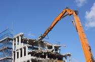 Stock Photo of Demolishing of a building