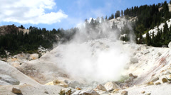 Bumpass Hell Fumaroles Stock Footage