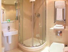 Bathroom minimalistic Stock Photos