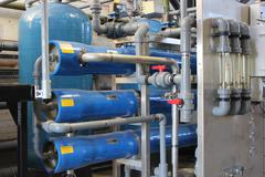 Industrial boiler water plant Stock Photos