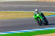 Stock Photo of adria araujo pilot of kawasaki ninja cup
