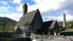 Irish ruins Stock Footage