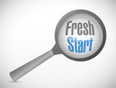 Stock Illustration of fresh start magnify glass illustration design