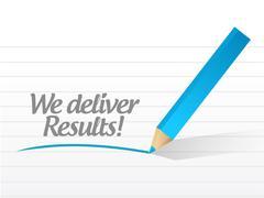 Stock Illustration of we deliver results illustration design