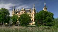 Schwerin Castle - Mecklenburg, Germany Stock Footage