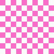 Bright pink and white checkers on textured fabric background Stock Illustration