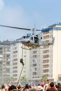 helicopter augusta bell 212 - stock photo