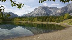Beautiful Mountain Lake serene scene - stock footage